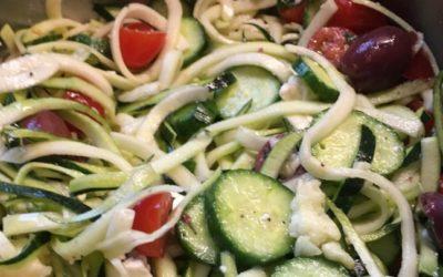 """Greek """"Pasta"""" Salad"""