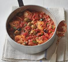 Chicken With Tomatoes, Olives and Capers